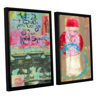 Brushstone Art Journal Let Go 2-pc. Floater FramedCanvas Wall Art