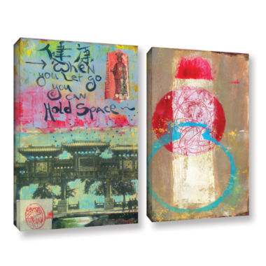 Brushstone Art Journal Let Go 2-pc. Gallery Wrapped Canvas Wall Art