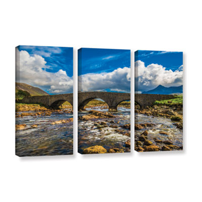 Brushstone The Old Stone Bridge 3-pc. Gallery Wrapped Canvas Wall Art