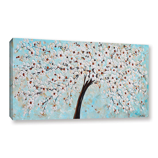 Brushstone Blossoms Gallery Wrapped Canvas Wall Art