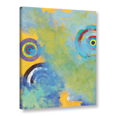 Brushstone Aqua Tide Gallery Wrapped Canvas Wall Art