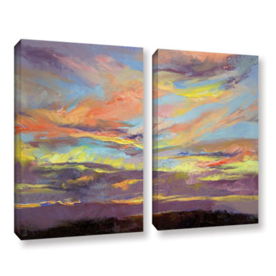 Brushstone Atahualpa Sunset 2-pc. Gallery WrappedCanvas Wall Art