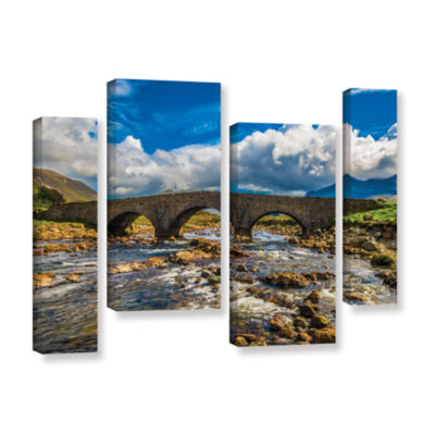 Brushstone The Old Stone Bridge 4-pc. Gallery Wrapped Staggered Canvas Wall Art