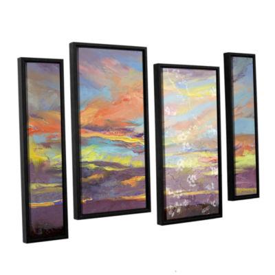 Brushstone Atahualpa Sunset 4-pc. Framed StaggeredCanvas Wall Art