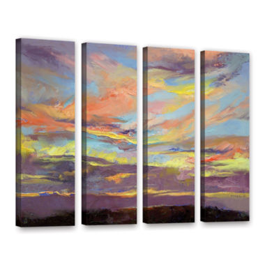 Brushstone Atahualpa Sunset 4-pc. Gallery WrappedCanvas Wall Art