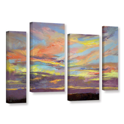 Brushstone Atahualpa Sunset 4-pc. Gallery WrappedStaggered Canvas Wall Art