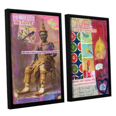 Brushstone Art Journal Love Is 2-pc. Floater Framed Canvas Wall Art