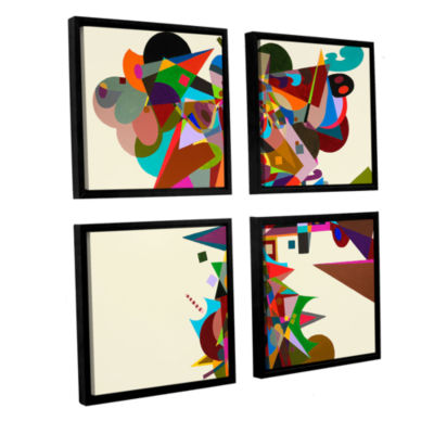 Brushstone Atherton 4-pc. Framed Canvas Square