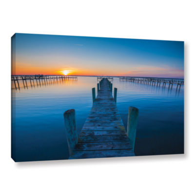 Brushstone Blue Is The Bay Gallery Wrapped CanvasWall Art