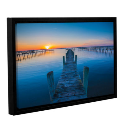 Brushstone Blue Is The Bay Gallery Wrapped Floater-Framed Canvas Wall Art