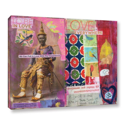 Brushstone Art Journal Love Is Gallery Wrapped Canvas Wall Art