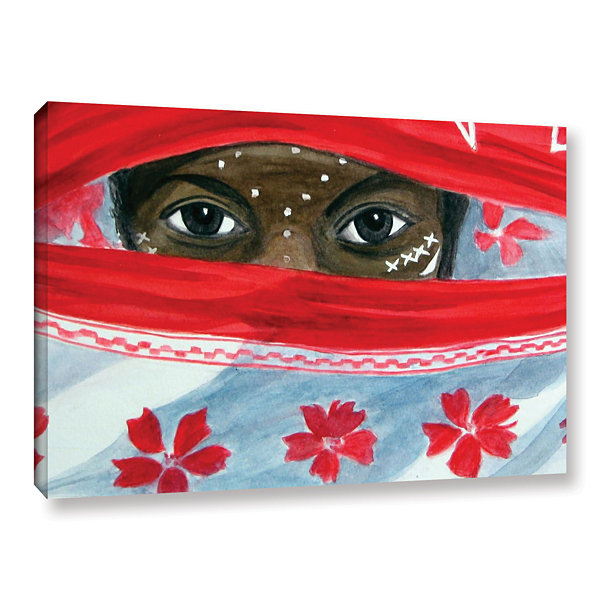 Brushstone Arab Girl Gallery Wrapped Canvas Wall Art