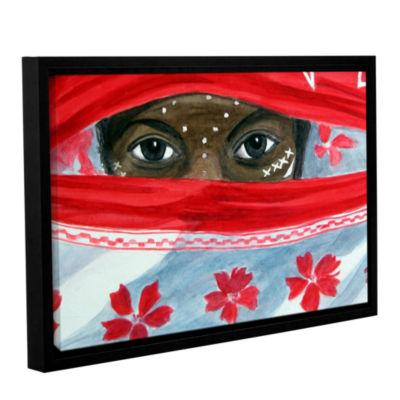 Brushstone Arab Girl Gallery Wrapped Framed CanvasWall Art