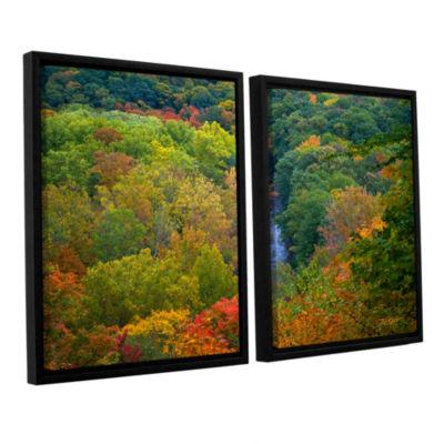 Brushstone Autumn Stream 2-pc. Framed Canvas WallArt