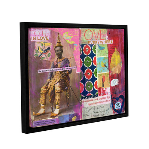 Brushstone Art Journal Love Is Gallery Wrapped Floater-Framed Canvas Wall Art