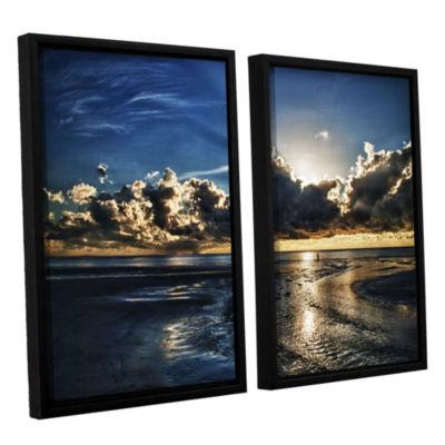 Brushstone Atlantic Sunrise 2-pc. Framed Canvas Wall Art