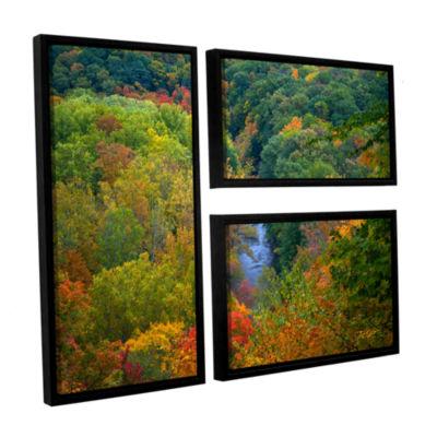 Brushstone Autumn Stream 3-pc. Framed Canvas WallArt