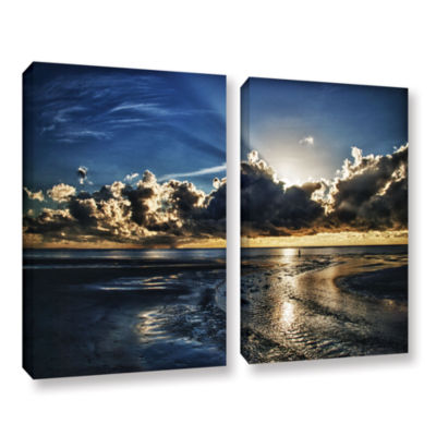 Brushstone Atlantic Sunrise 2-pc. Gallery WrappedCanvas Wall Art