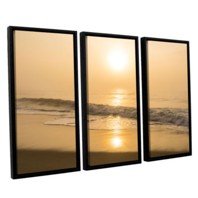 Brushstone Through The Fog I 3-pc. Floater FramedCanvas Wall Art