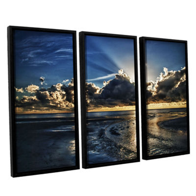 Brushstone Atlantic Sunrise 3-pc. Framed Canvas Wall Art