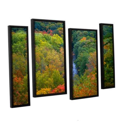 Brushstone Autumn Stream 4-pc. Framed Staggered Canvas Wall Art