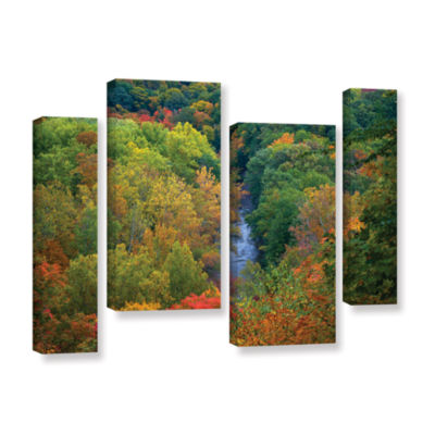 Brushstone Autumn Stream 4-pc. Gallery Wrapped Staggered Canvas Wall Art