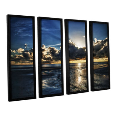 Brushstone Atlantic Sunrise 4-pc. Floater Framed Canvas Wall Art