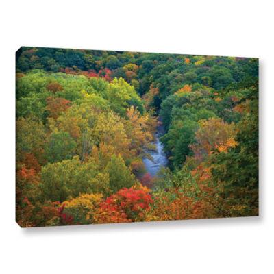 Brushstone Autumn Stream Gallery Wrapped Canvas Wall Art