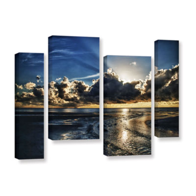 Brushstone Atlantic Sunrise 4-pc. Gallery WrappedStaggered Canvas Wall Art