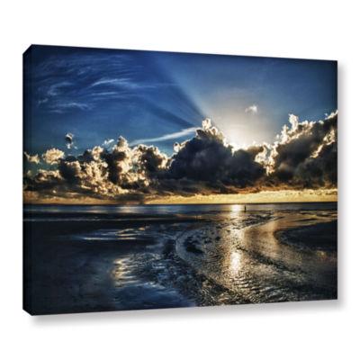 Brushstone Atlantic Sunrise Gallery Wrapped CanvasWall Art