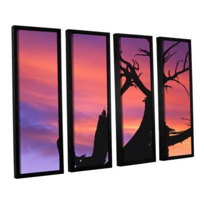 Brushstone Desert Magic Hour 4-pc. Floater FramedCanvas Wall Art