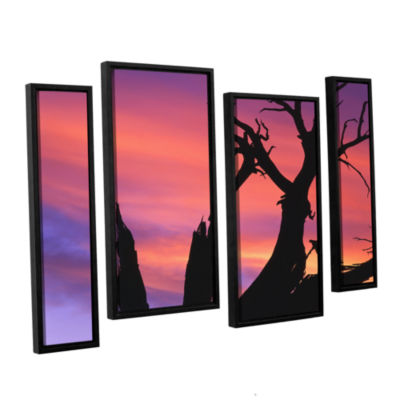 Brushstone Desert Magic Hour 4-pc. Floater FramedStaggered Canvas Wall Art