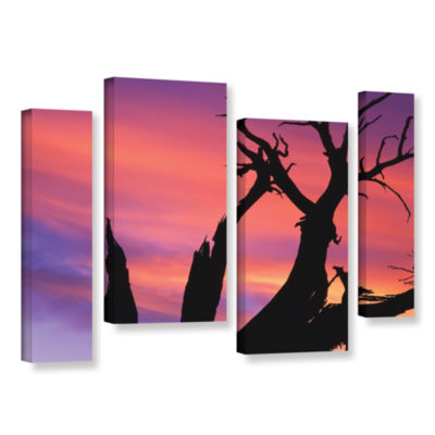 Brushstone Desert Magic Hour 4-pc. Gallery WrappedStaggered Canvas Wall Art