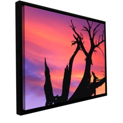 Brushstone Desert Magic Hour Gallery Wrapped Floater-Framed Canvas Wall Art