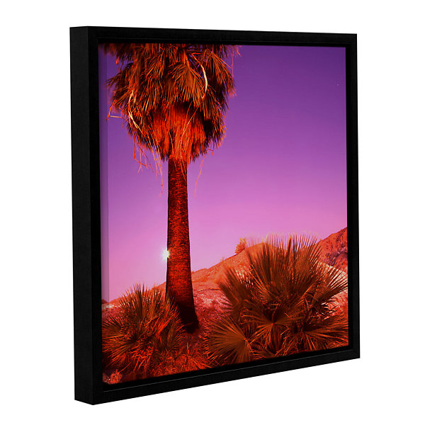 Brushstone Desert Moon Gallery Wrapped Floater-Framed Canvas Wall Art