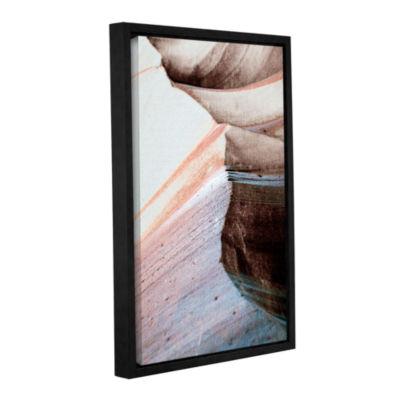 Brushstone Desert Sands Mountain Gallery Wrapped Floater-Framed Canvas Wall Art