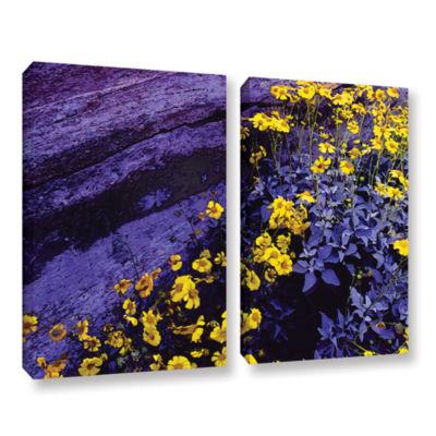 Brushstone Desert Sunflower Dusk 2-pc. Gallery Wrapped Canvas Wall Art