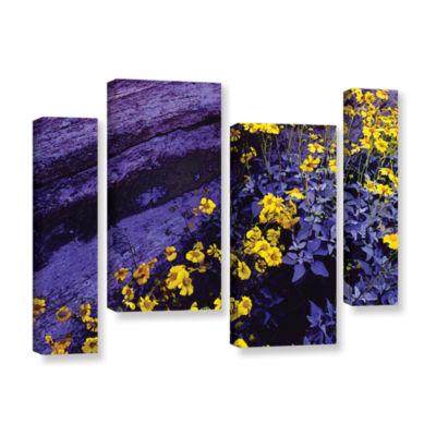 Brushstone Desert Sunflower Dusk 4-pc. Gallery Wrapped Staggered Canvas Wall Art