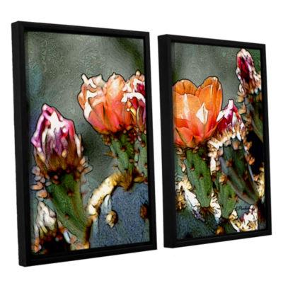 Brushstone Dessert Bloom 2-pc. Floater Framed Canvas Wall Art