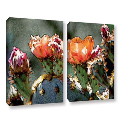 Brushstone Dessert Bloom 2-pc. Gallery Wrapped Canvas Wall Art