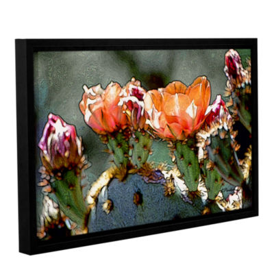 Brushstone Dessert Bloom Gallery Wrapped Floater-Framed Canvas Wall Art