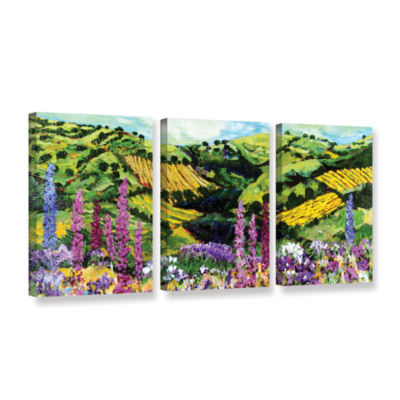 Brushstone Different Garden 3-pc. Gallery WrappedCanvas Wall Art