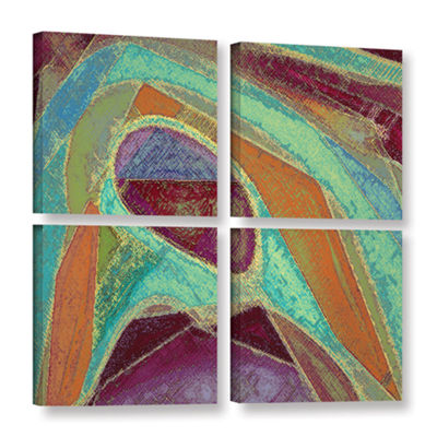 Brushstone Dirty Geometry 4-pc. Square Gallery Wrapped Canvas Wall Art