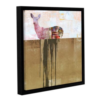 Brushstone Dissolve I Gallery Wrapped Floater-Framed Canvas Wall Art