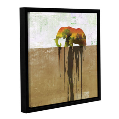 Brushstone Dissolve Ii Gallery Wrapped Floater-Framed Canvas Wall Art