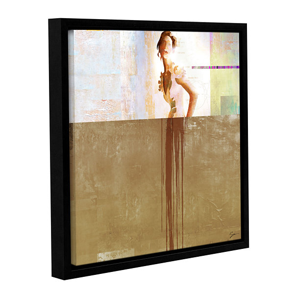 Brushstone Dissolve Iii Gallery Wrapped Floater-Framed Canvas Wall Art