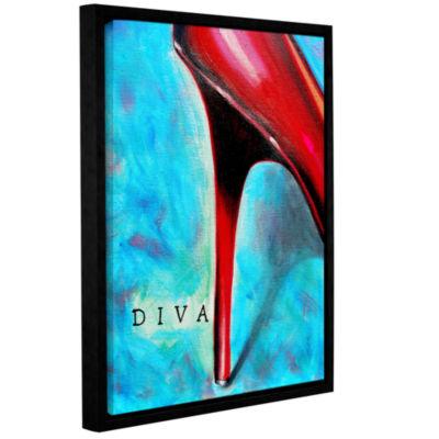 Brushstone Diva Gallery Wrapped Floater-Framed Canvas Wall Art