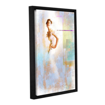 Brushstone Diva I Gallery Wrapped Floater-Framed Canvas Wall Art