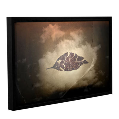 Brushstone Divided Gallery Wrapped Floater-FramedCanvas Wall Art