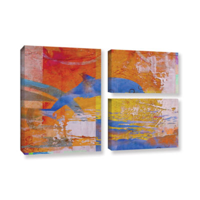 Brushstone Dolphin 3-pc. Flag Gallery Wrapped Canvas Wall Art